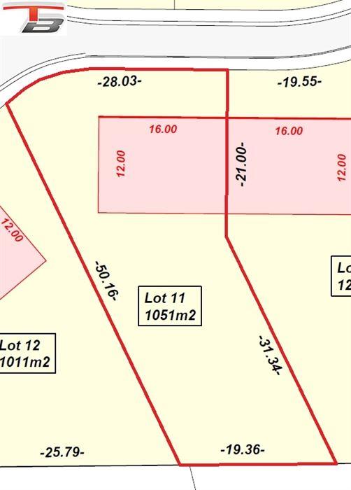 Belle parcelle libre de constructeur de 1.051m² exposée au sud-est