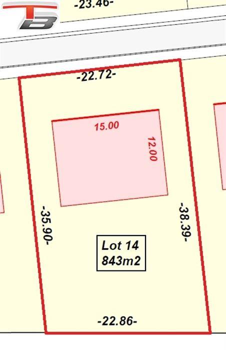 Belle parcelle libre de constructeur de 844m² exposée au sud-est située au calme dans une voie sans issue