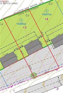 Terrain libre de constructeur plane de 1.006 m² situé à proximité du centre de La Reid et de l