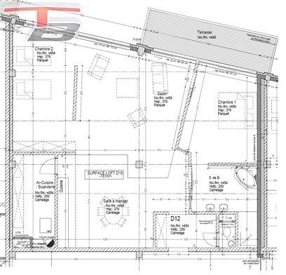 Loft basse énergie 2 chambres de 149m² avec spacieuse terrasse plein sud surplombant la Vesdre