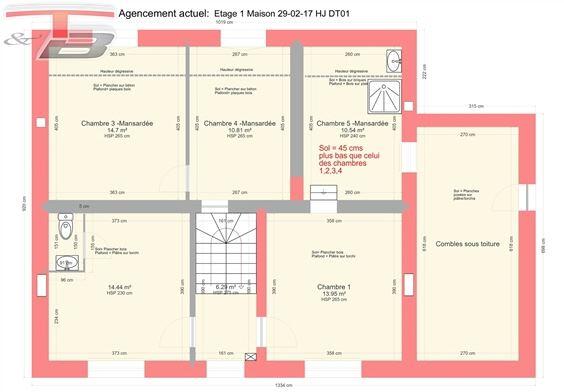 Maison 4 chambres (poss 5) de 154m² habitables sur magnifique terrain plane de 2.981m² dans un quartier prisé situé sur les hauteurs de Tihange