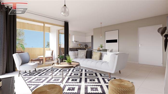 Appartement PMR basse énergie 1 chambre neuf de 80 m² entièrement équipé sis au rez avec spacieuse terrasse et jardin bien orientés, et un emplacement de parking privatif.