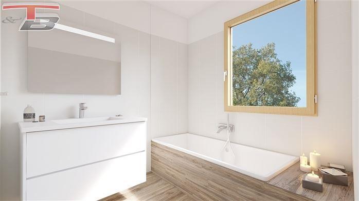 Appartement basse énergie 2 chambres neuf de 85 m² entièrement équipé sis au 1er avec terrasse bien orientée avec vue sur le parc et un emplacement de parking privatif.