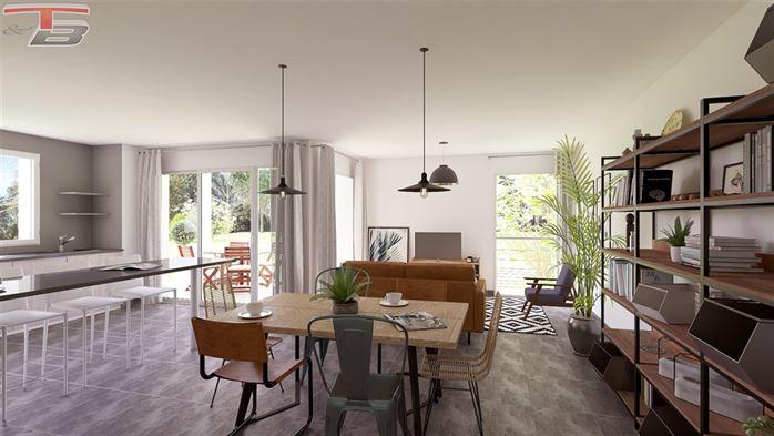 Spacieux rez-de-chaussée neuf 2 chambres de 120m² entièrement équipé avec terrasse et jardin privatif exposés sud
