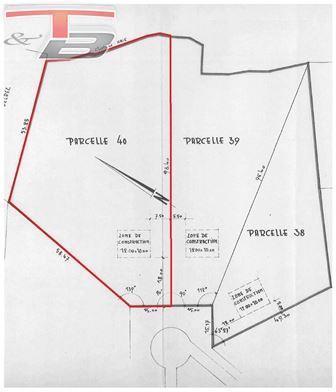 Parcelle à bâtir libre de constructeur de +/- 3.600m² idéalement située au calme dans un quartier prisé