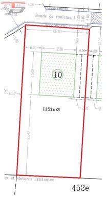 Terrain à bâtir libre de constructeur de 1.151m² situé au calme dans une voie sans issue !